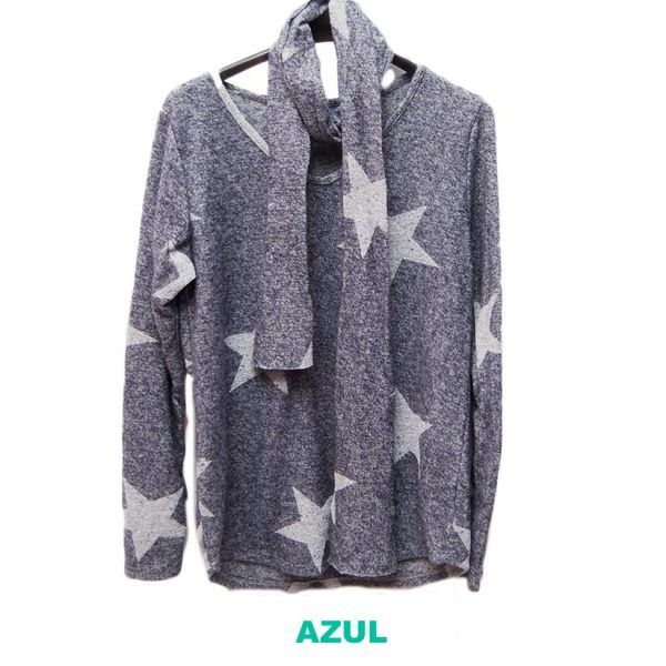 jersey azul pañuelo estrellas