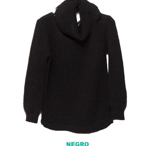 jersey con cubre cuello negro