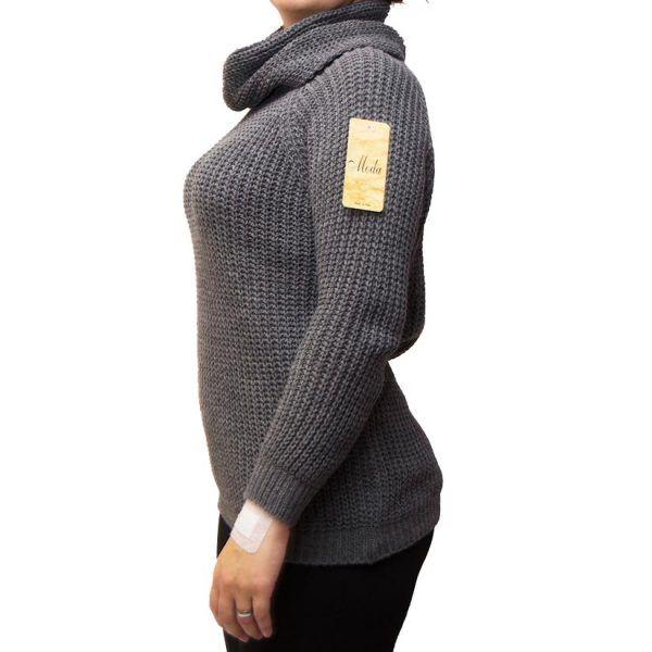 jersey con cubre cuello perfil