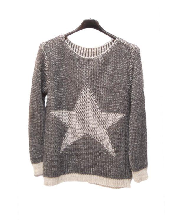 jersey gris estrella blanca percha