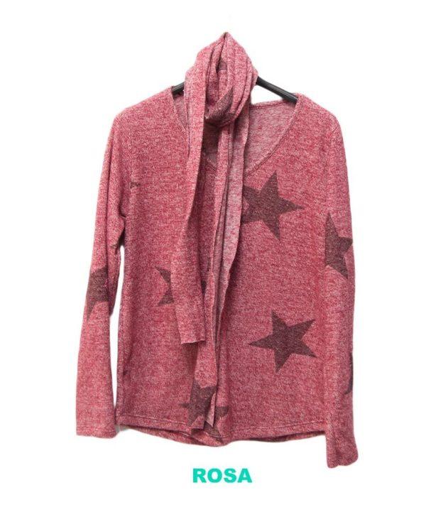 jersey rosa pañuelo estrellas